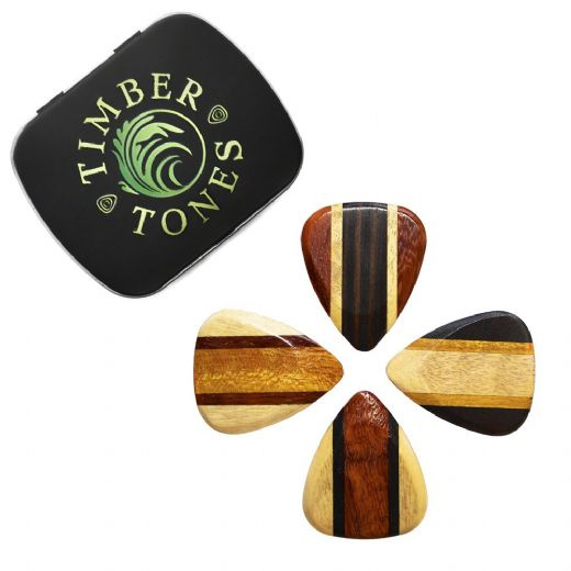 Zone Tones Deluxe Mixed Tin of 4 Guitar Picks